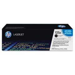 HP 125A, (CB540A) Black Original LaserJet Toner Cartridge