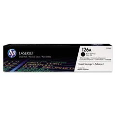 HP 126A, (CE310A-D) 2-pack Black Original LaserJet Toner Cartridges