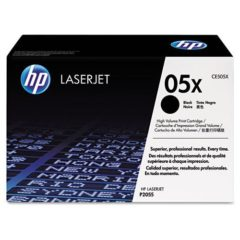 HP 05X, (CE505X) High-Yield Black Original LaserJet Toner Cartridge, 6500 Yield