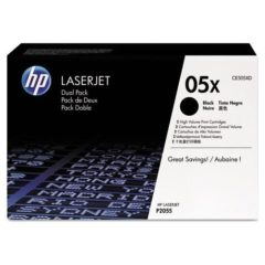 HP 05X, (CE505X-D) 2-pack High-Yield Black Original LaserJet Toner Cartridges