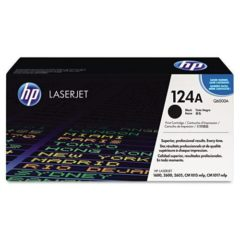 HP 124A, (Q6000A) Black Original LaserJet Toner Cartridge
