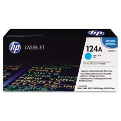 HP 124A, (Q6001A) Cyan Original LaserJet Toner Cartridge