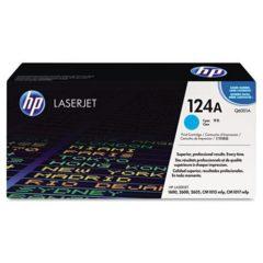 HP 124A, (Q6001A) Cyan Original LaserJet Toner Cartridge