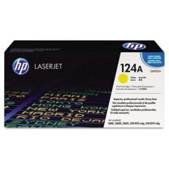 HP 124A, (Q6002A) Yellow Original LaserJet Toner Cartridge